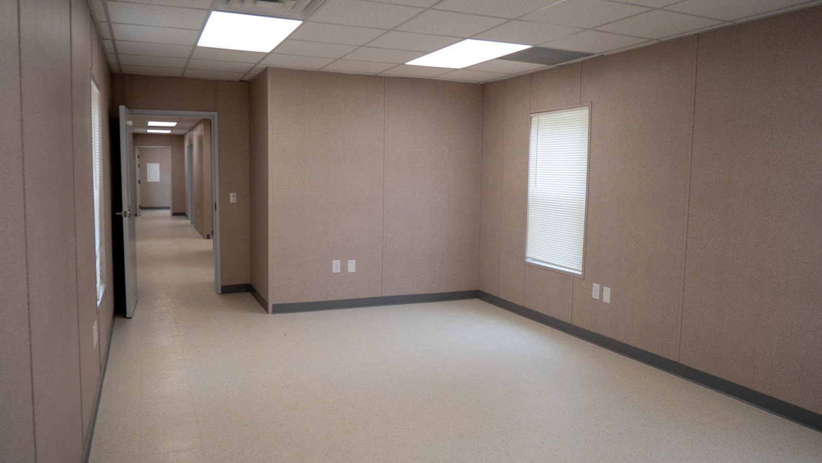 Interior of an outpatient drug treatment center in a modular building