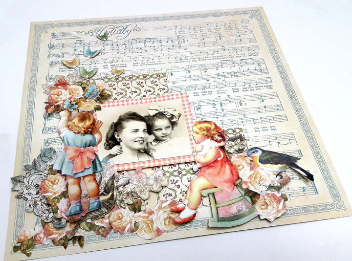 Mother and Daughter Layout, by Einat Kessler, Little Darlings, Product by Graphic 45, photo 1.jpg