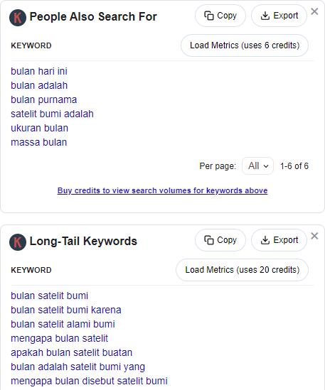 LSI keyword dan long tail keyword