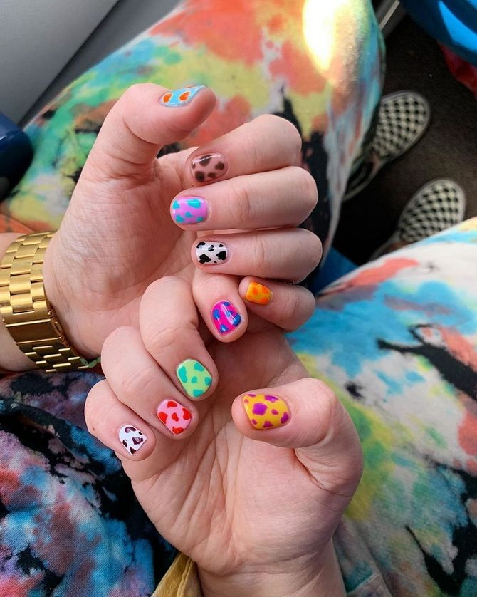 multi-colored nails