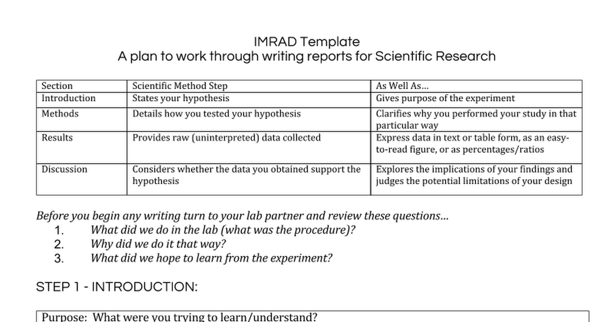 scientific report writing template Student report writing your report is easy with this pre-formatted template we've set up styles for headings, quotes, numbered and bulleted lists so you can focus on writing a.