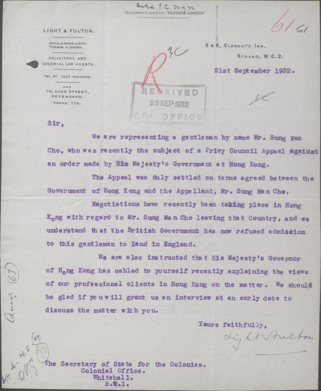 Thư của Light & Fulton gởi cho Bộ Thuộc địa 21-09-1932.jpg