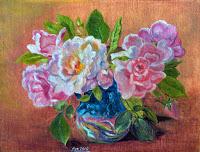 pink tea roses in a vase 2