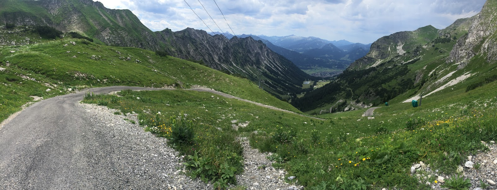 Neblhorn - Toughest bike climb in Germany - road, mountains, view down canyon