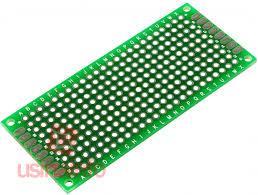 Placa de Circuito Impresso Ilhada / Placa Universal 240 furos - 3x7cm -  Usinainfo