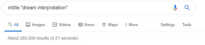 intitle: operator of Google