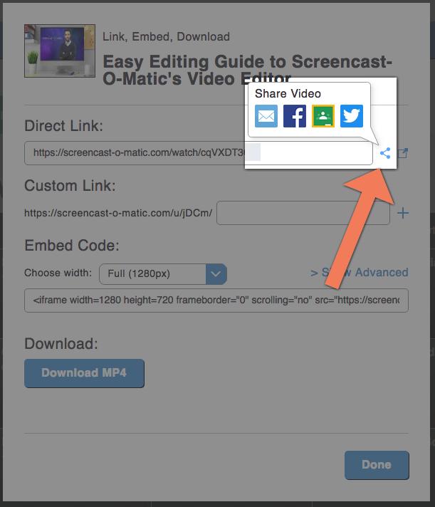 screencast-o-matic screenshot sharing