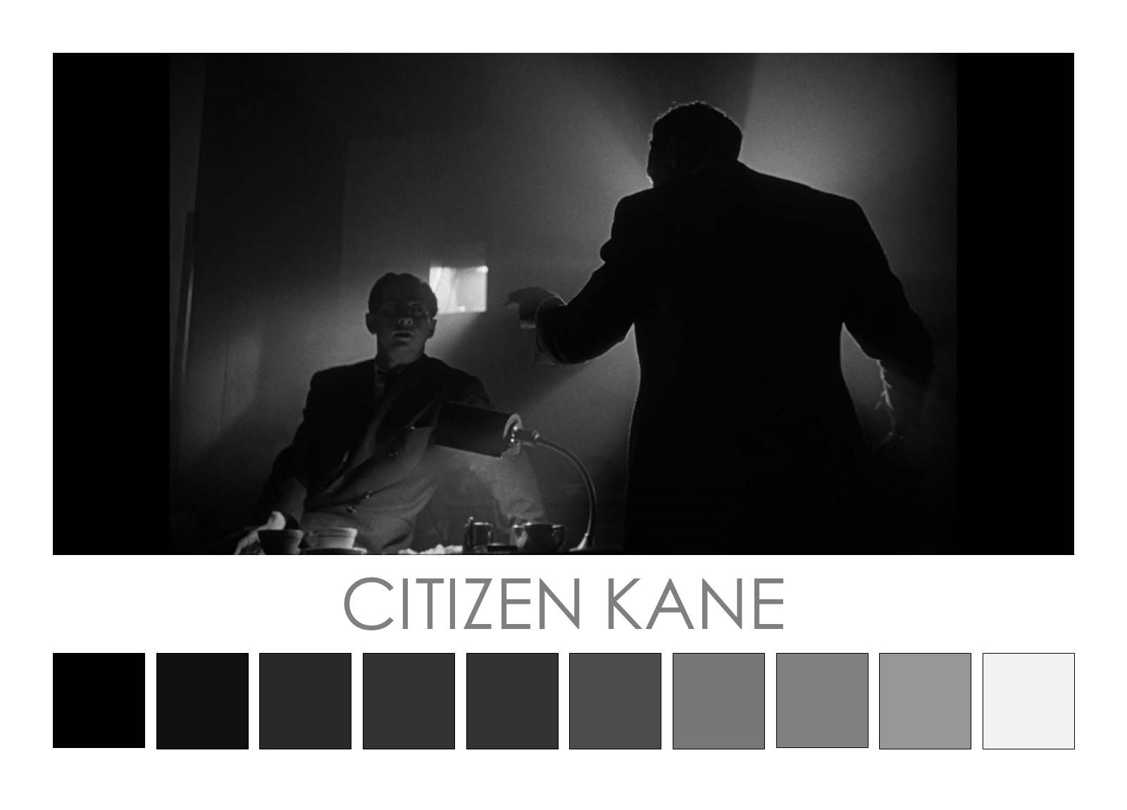 photo about black in movie with color palette