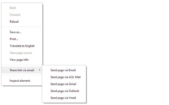 Share link via email chrome extension