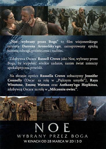 Tył ulotki filmu 'Noe: Wybrany Przez Boga'