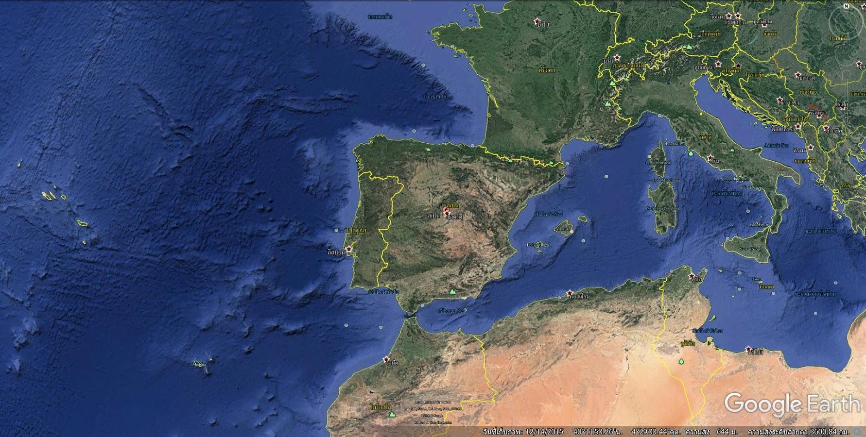 Google Earth Map Of Spain.Google Earth Europe