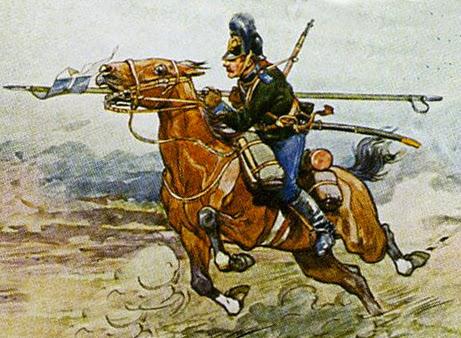 Русская кавалерия -- атака с пикой