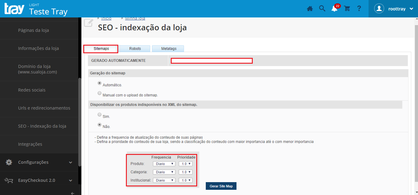 c870468861d Mas se você quiser gerar manualmente o sitemap de seu site (loja virtual)  fique tranquilo