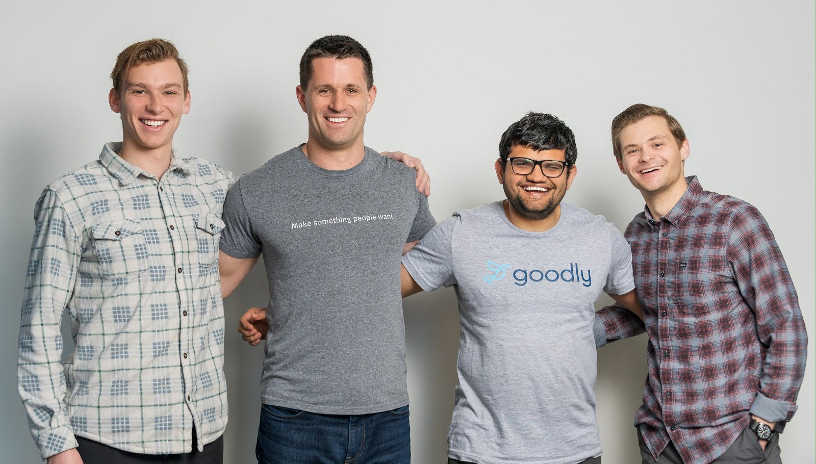Goodly founders with their first team members.
