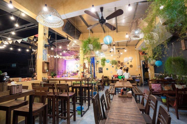 Nhà hàng chay An's với không gian quán được trang trí bắt mắt