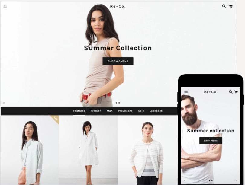 shopify free theme: Boundless - Black & White style