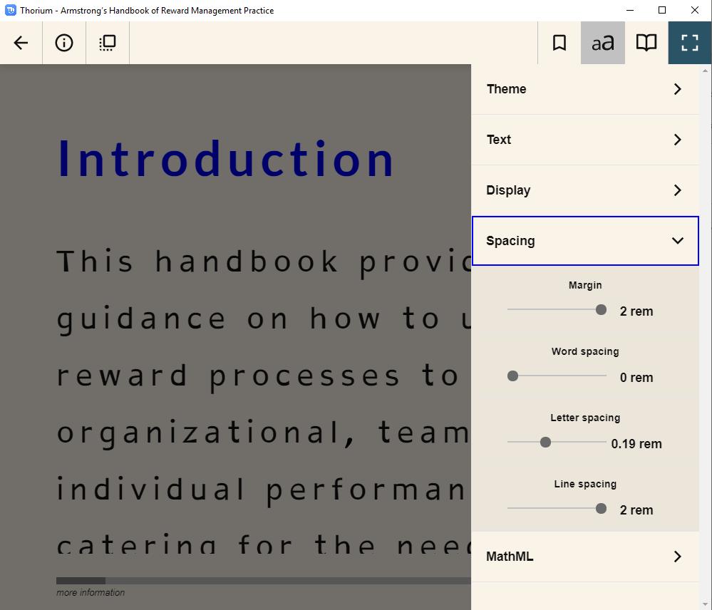 eBook in Thorium Reader
