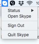 Skype program status - Mac