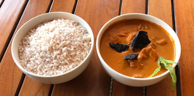 Goan Fish Curry and Red Rice
