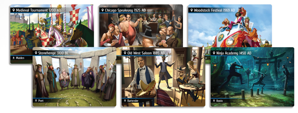 Spyfall: Time Travel Location Cards