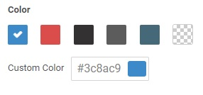 Select the color for your live chat tools