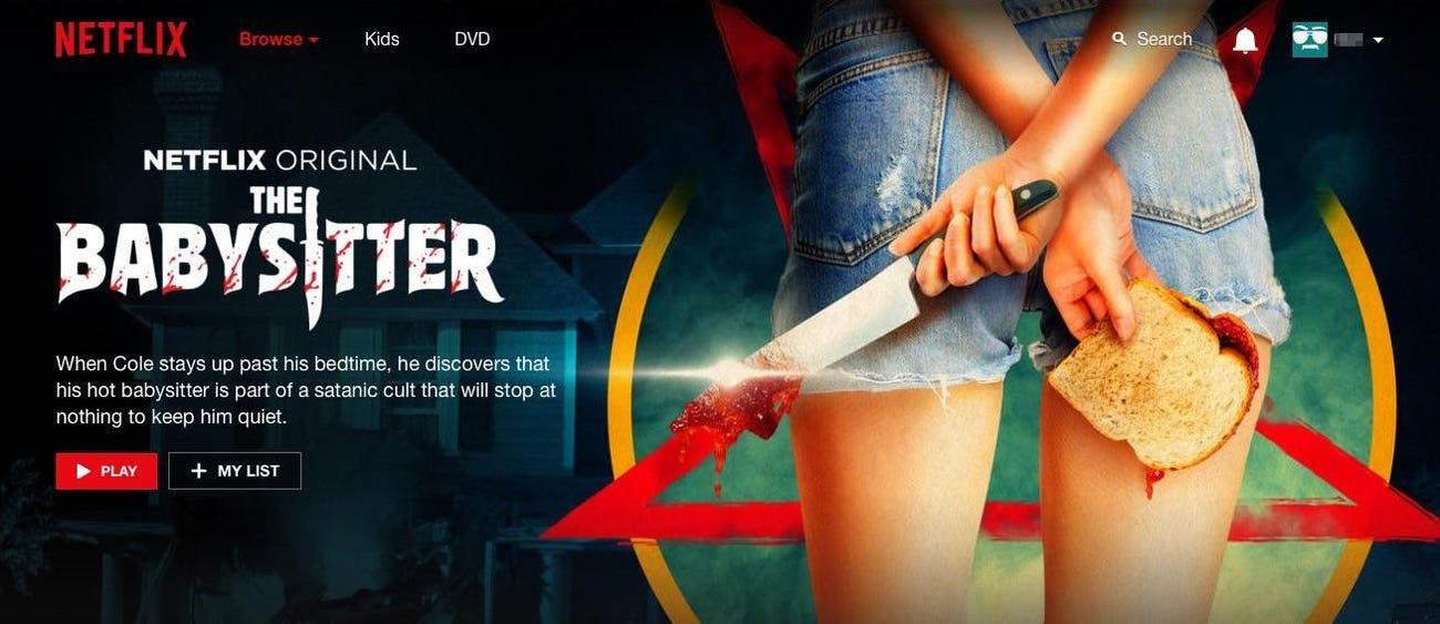 Netflix Original: The Babysitter two right hands photoshop fail