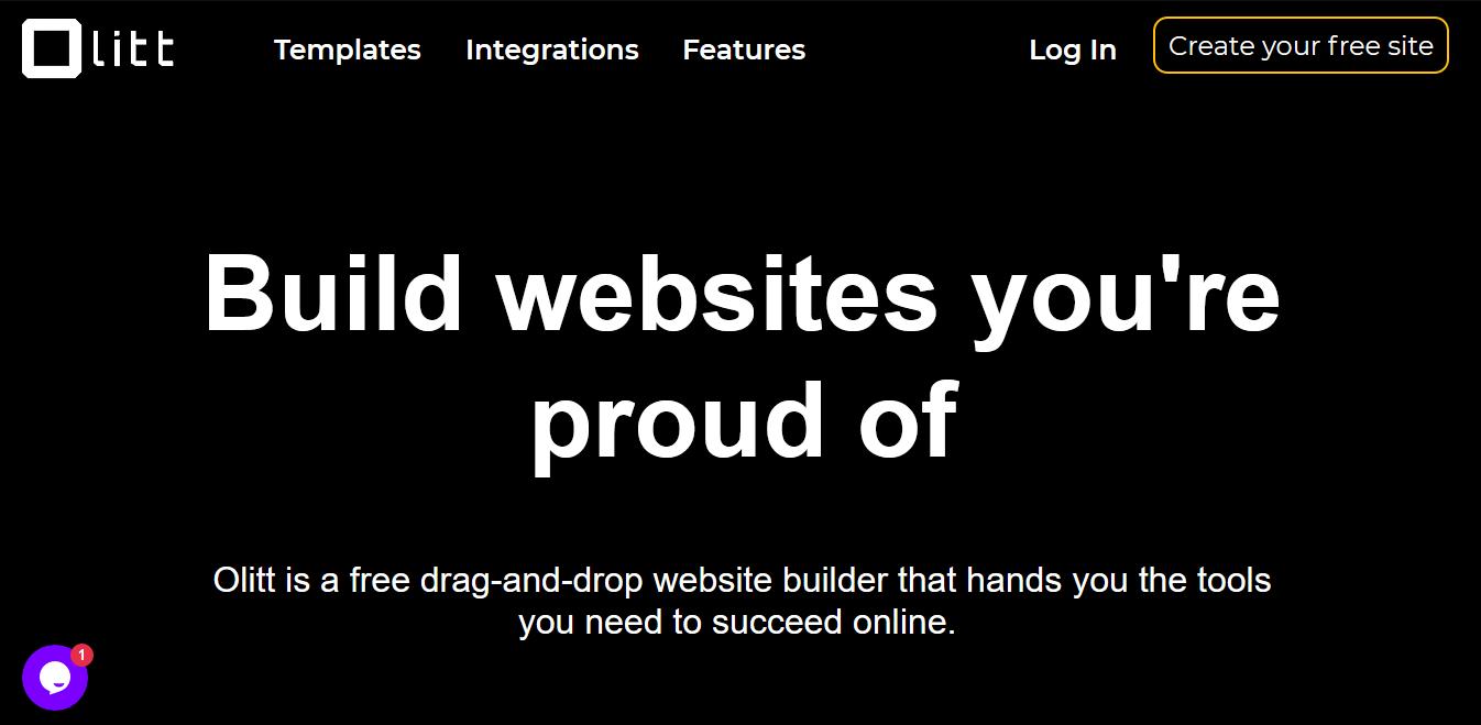 OLITT website builder.