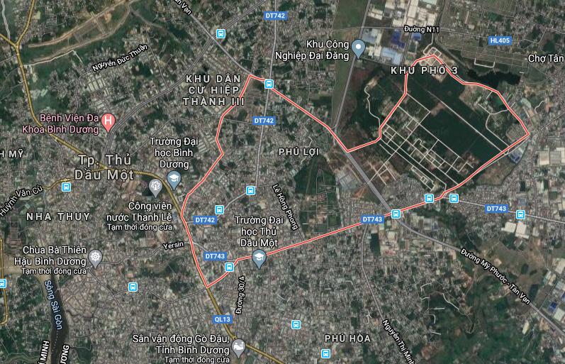 Bản phường Phú Lợi, TP. Thủ Dầu Một, tỉnh Bình Dương
