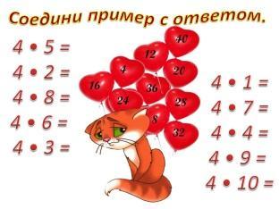 Соедини линией примеры и ответы на шариках
