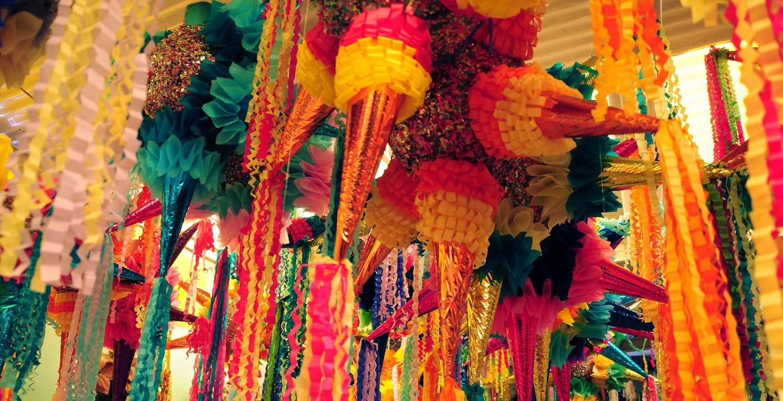 Piñata de Navidad en México