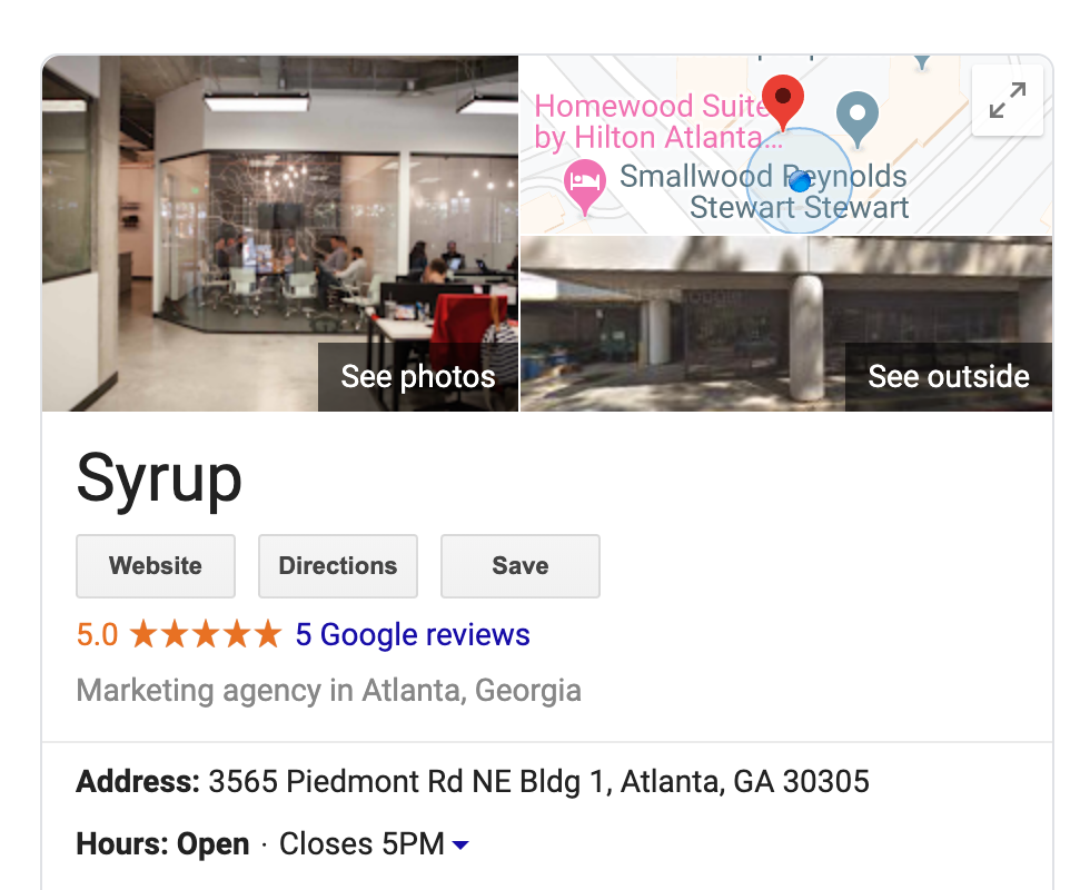 Example of Google MyBusiness listing to help you use Google to tell your story