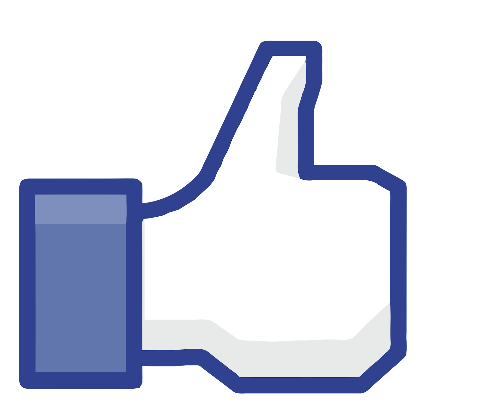 The like button on Facebook.
