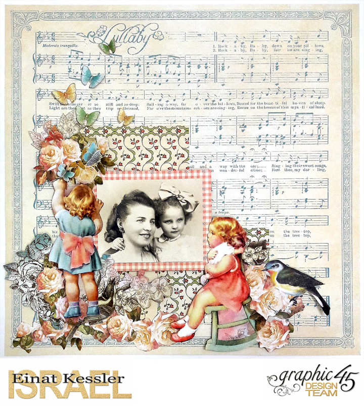 Mother and Daughter Layout, by Einat Kessler, Little Darlings, Product by Graphic 45, photo 5.jpg