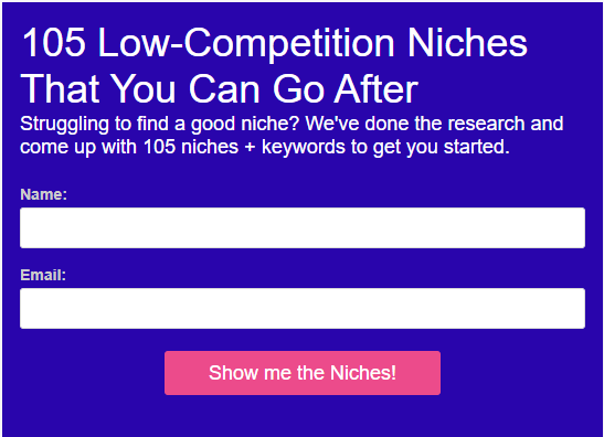 TOOLS FOR AFFILIATE MARKETING 105 low-competition niches
