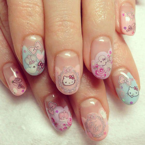 cute nail designs creem (47)