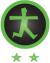 drempelvrij niveau 2 logo (WCAG 2.0, Level AA)