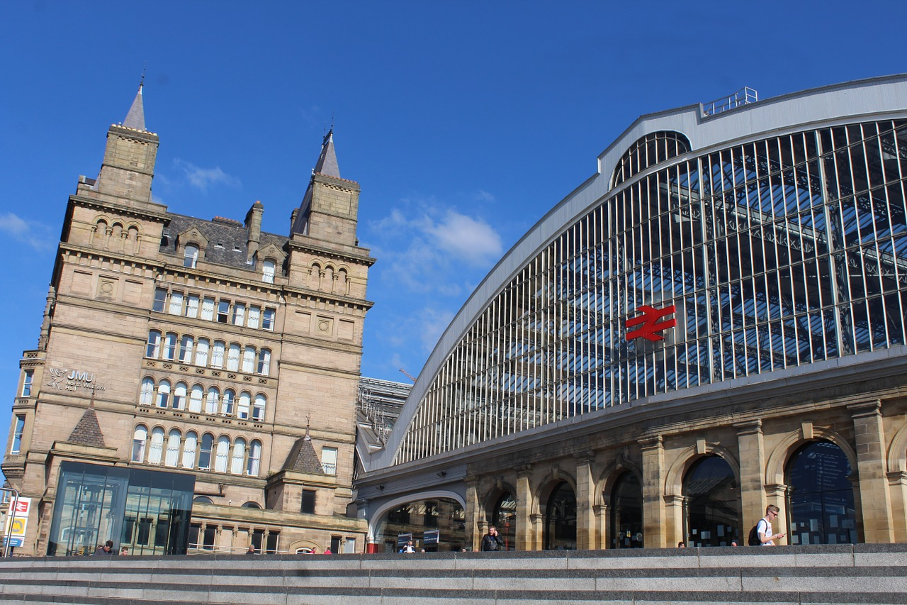 A picture from outside Liverpool train station.