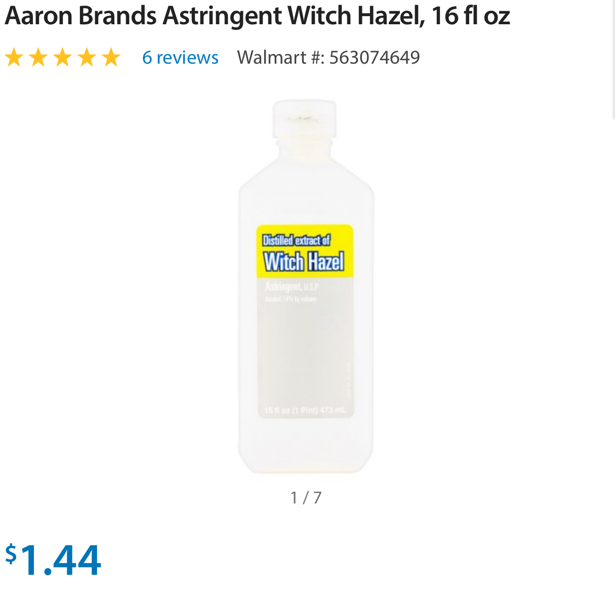 Witch Hazel on the cheap