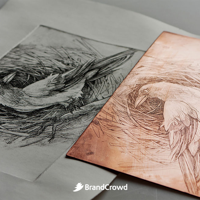 the-bird-illustration-is-beside-the-copper-plate-used-for-the-design-process