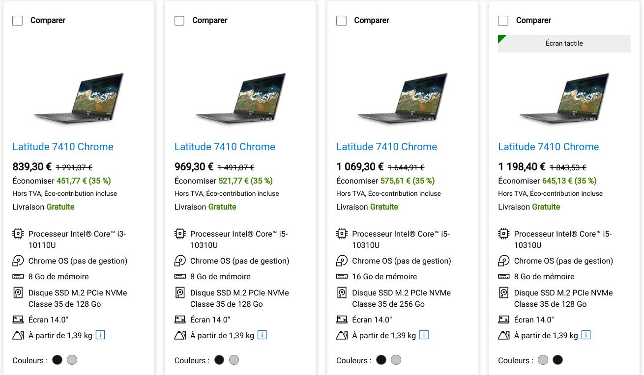 Le Chromebook DELL Latitude 7410 Chrome