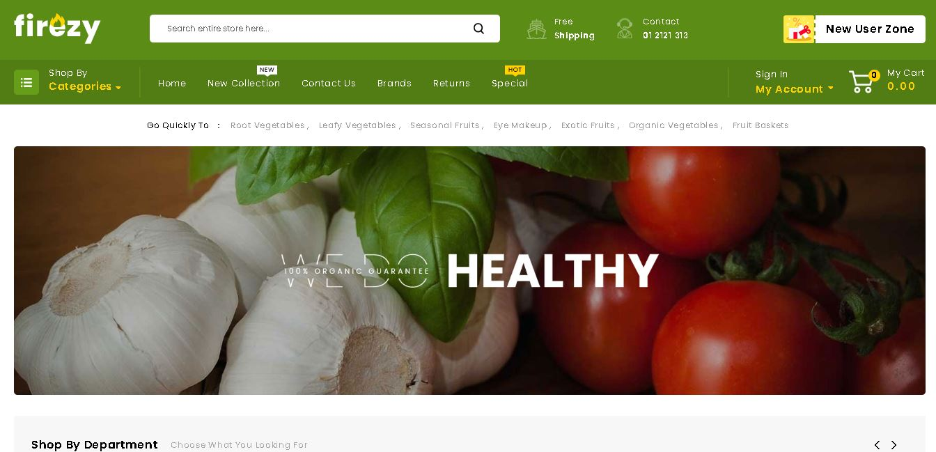 Fruits and vegetables magento theme firezy