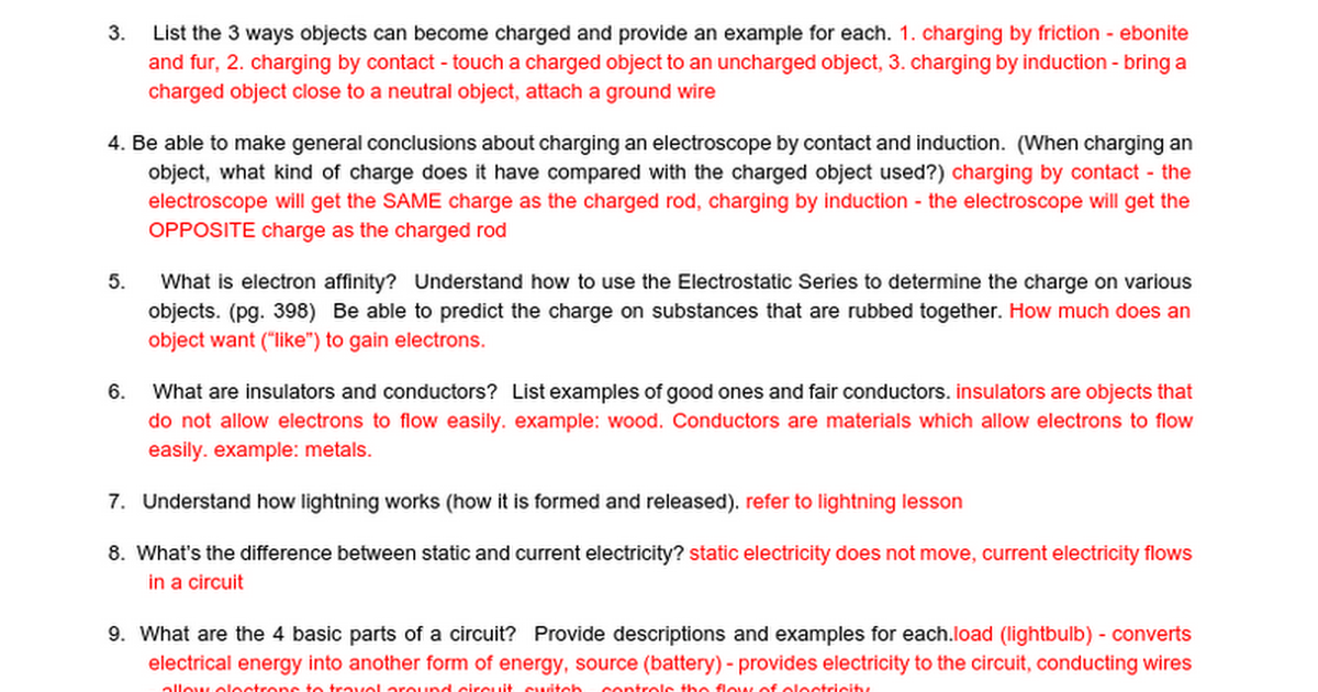 Elec11 Electricity Review F2015 Answers Google Docs