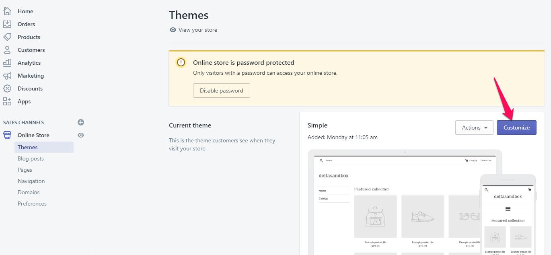 how to edit Shopify sidebar menu