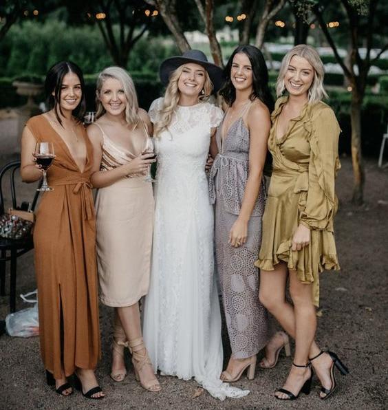 Semi-formal wedding attire for women
