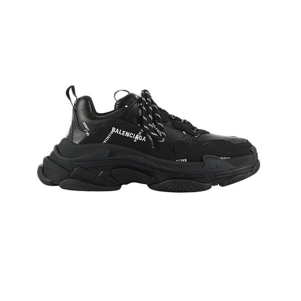 Giày Balenciaga Triple S Allover Logo Black Plus Factory