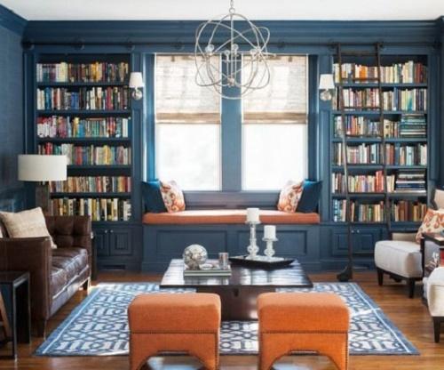 Phòng đọc sách mang vẻ đẹp ấn tượng