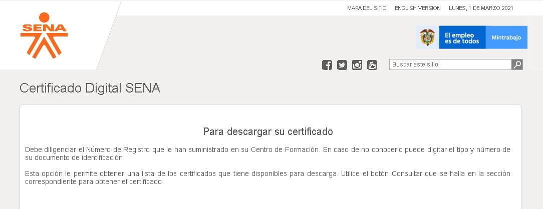 Descargar certificado de formación digital en el SENA
