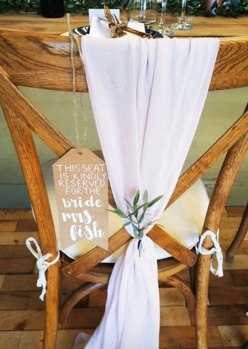 personalised chair tags - wedding decoration