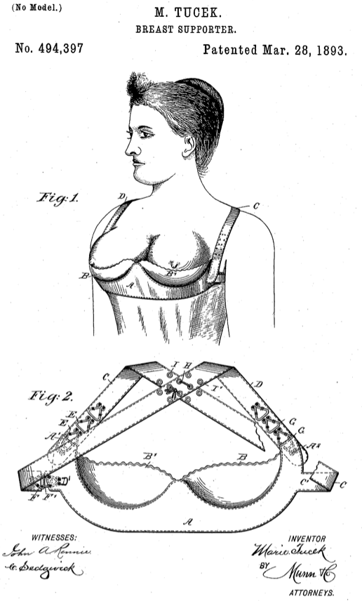 patent for bra 1893