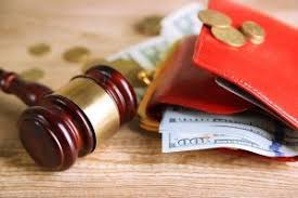 New Mexico Divorce payment along with gavel.